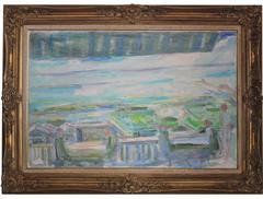 Pale Impressionist Lake Scene