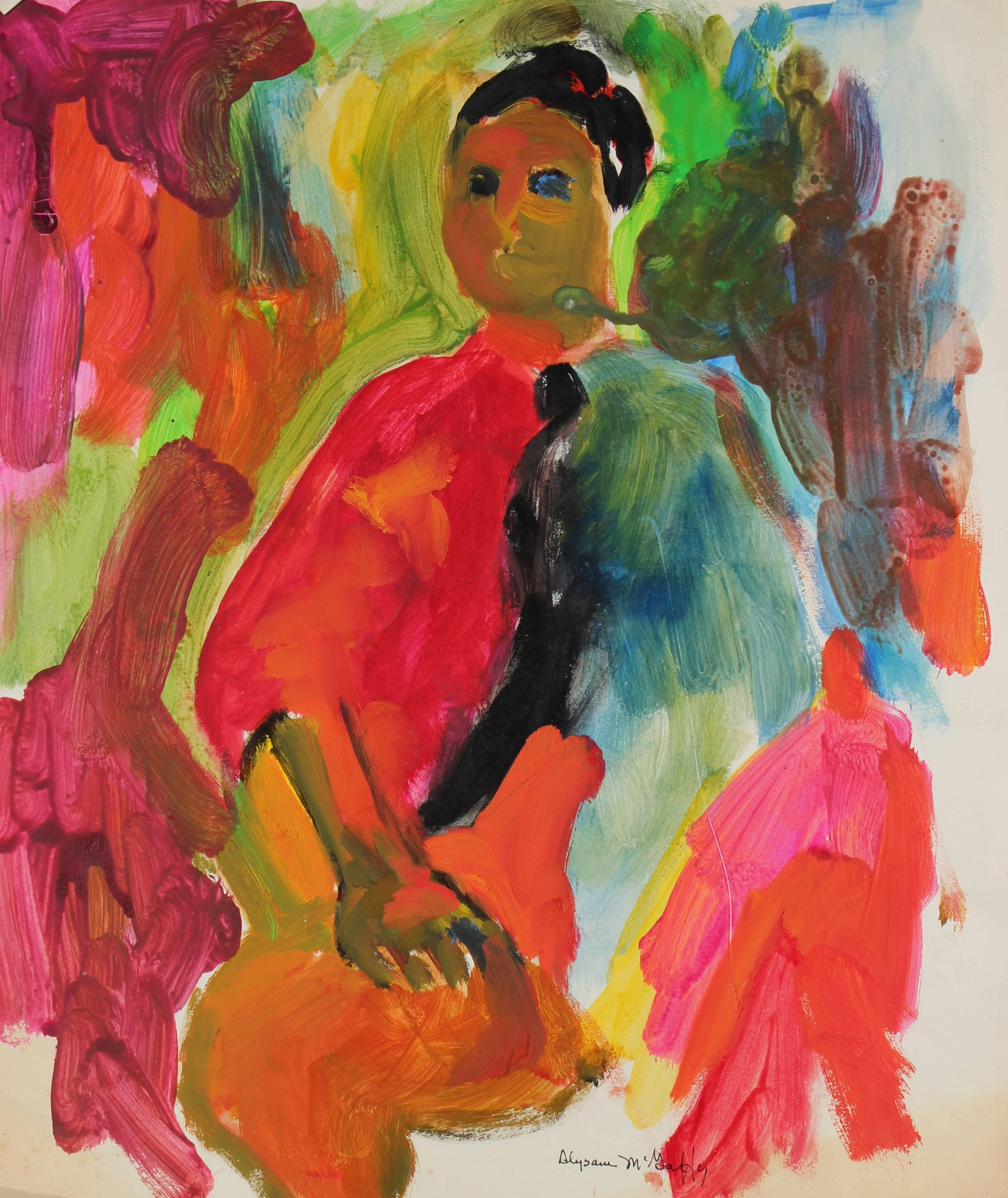 Bay Area Figurative Portrait Painting, Circa 1960s