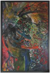 """Rhythms at Night on Movement"", Mid Century Oil"
