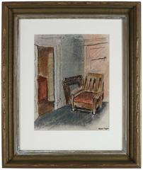 1940s Expressionist Interior Scene
