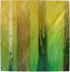 """""""To Forest Life"""" Large Textured Abstract in Green, 2006"""