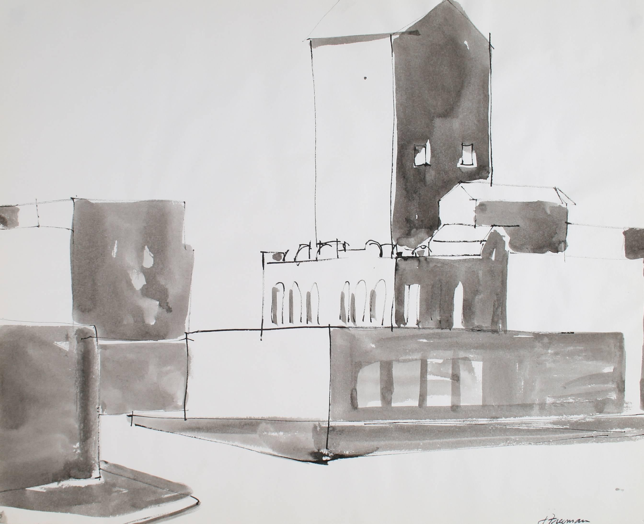 San Francisco Cityscape in Ink, 1976