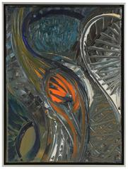 Modernist Abstract in Oil, 20th Century