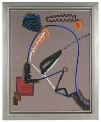 Mid Century Surrealist Abstract