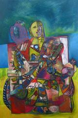 Cubist Portrait with Falcon