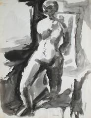 Monochromatic Standing Female Nude