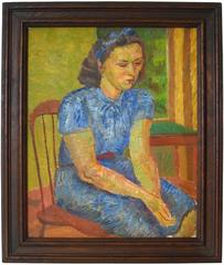 """Portrait of a Young Woman"" Oil on Canvas, 1949"