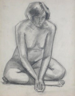 Seated Graphite Nude, Circa 1920s