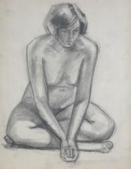 Seated Graphite Nude