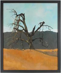 """Le Vieux Chêne"" (Ancient Blue Oak), Northern California Landscape, in Oil"