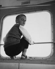 Boy on a Swiss Train, Photograph, 1960s