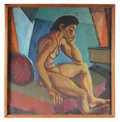 Mid Century Expressionist Nude