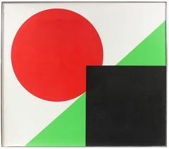 Hard-Edge Abstract by Dellard Cassity, 1980
