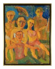 """""""Sitting For Photographs""""  Expressionist Portrait"""