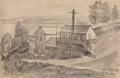 San Francisco Neighborhood by the Bay, Graphite Drawing, 1938