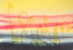 Abstracted Sunset Watercolor, Late 20th Century