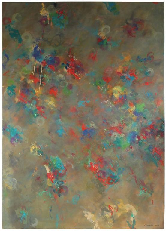 """Linda Symonds - """"Cacophony"""", Large Oil Abstract, 1998 1"""