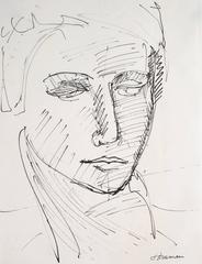 Modernist Ink Portrait