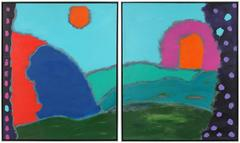 """Magical Kingdom"", Large Diptych"