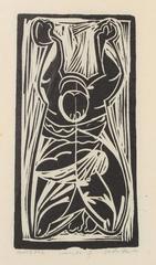 """Apostol"" Modernist Block Print"