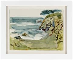 """""""Coastal Rocks, CA"""" Bay Area Watercolor"""