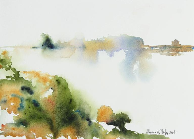 Abstracted Bay Area Landscape in Watercolor, 2004
