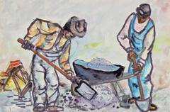 Workers in Ink & Watercolor