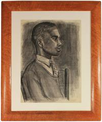 Charcoal Portrait of a Young Man