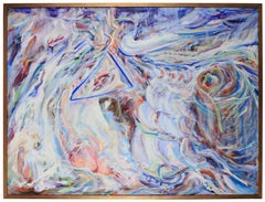 """""""Triangle"""" Large Abstract Expressionist Oil, 1978"""