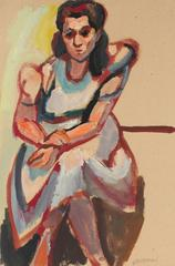 Modernist Portrait of a Seated Woman