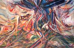 Large Abstract Expressionist Oil Painting, 1980