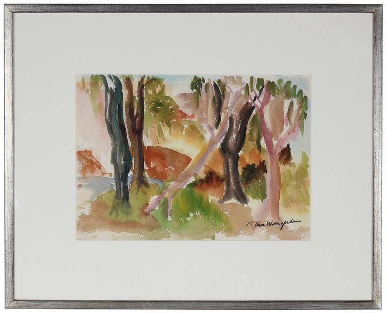Richard Van Wingerden Landscape Art - Northern California Expressionist Trees