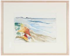 """""""Pacifica Beach, CA"""" Watercolor Seascape"""