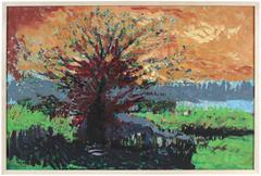 """Ancestral Tree"" Kensington, California Landscape, 2004"