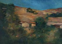 """Landscape Study"" Los Angeles Hillside in Oil"