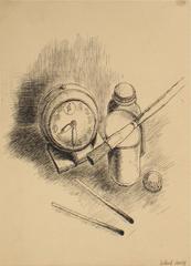 Artist's Still Life in Ink