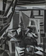 Cubist Charcoal Study of Vermeer