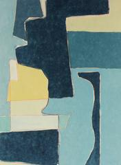 """""""Blue Note XII"""" Monotype and Mixed Media"""