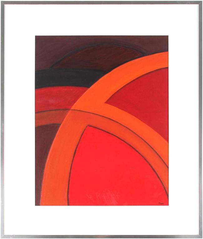 Warren Snodgrass - Bright Abstract in Red, Acrylic Painting, 2003 1