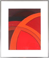 Bright Abstract in Red, Acrylic Painting, 2003
