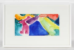 Bold Watercolor Abstract, 1991