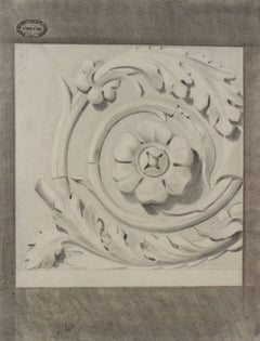 Bas Relief Motif Study in Charcoal, 1881
