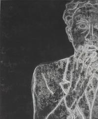 """Jean Cocteau in 1929 IV"" Mixed Media Monoprint"