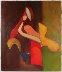 Deconstructed Cubist Figure in Oil