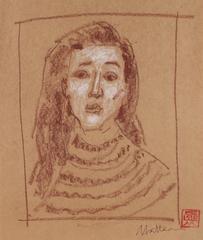 Female Portrait in Pastel, 20th Century