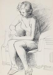 Seated Figure in Ink