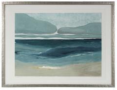 """""""Cerulean Tides"""" Monoprint"""