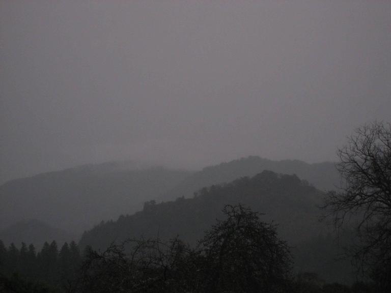 """""""Winter Dusk"""" Mendocino Mountains"""