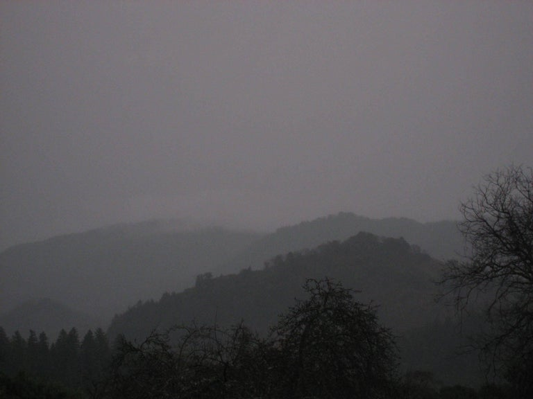 "Gaétan Caron Landscape Photograph - ""Winter Dusk"" Mendocino Mountains"