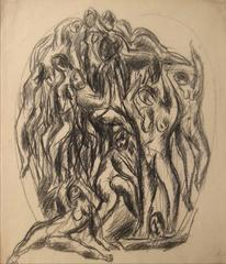 Expressionist Figures in Charcoal